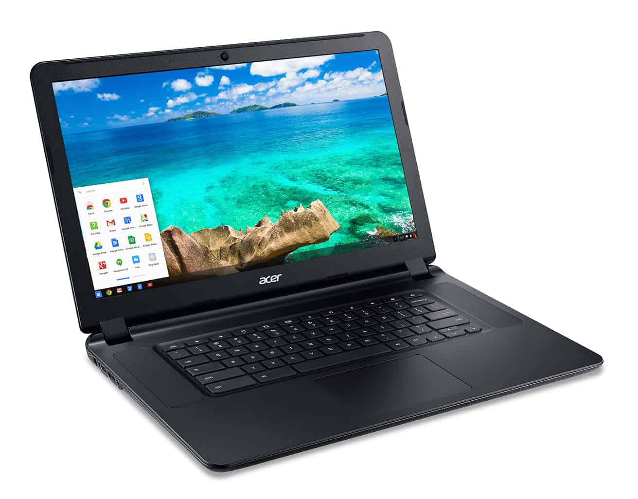Acer C910 Chromebook right facing