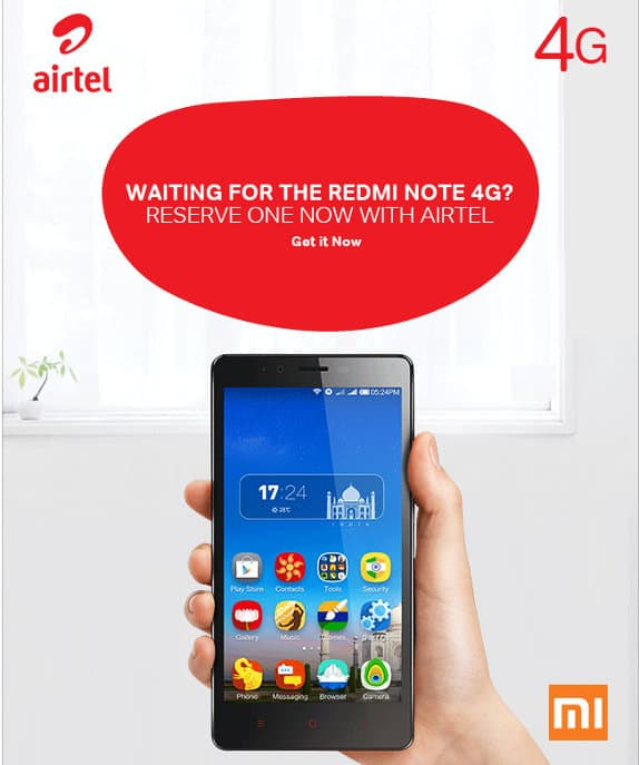 Redmi Note 4G bookings India