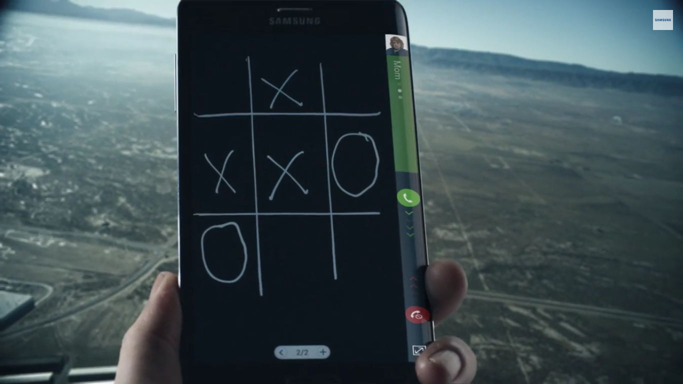 Galaxy Note Edge skydiving ad