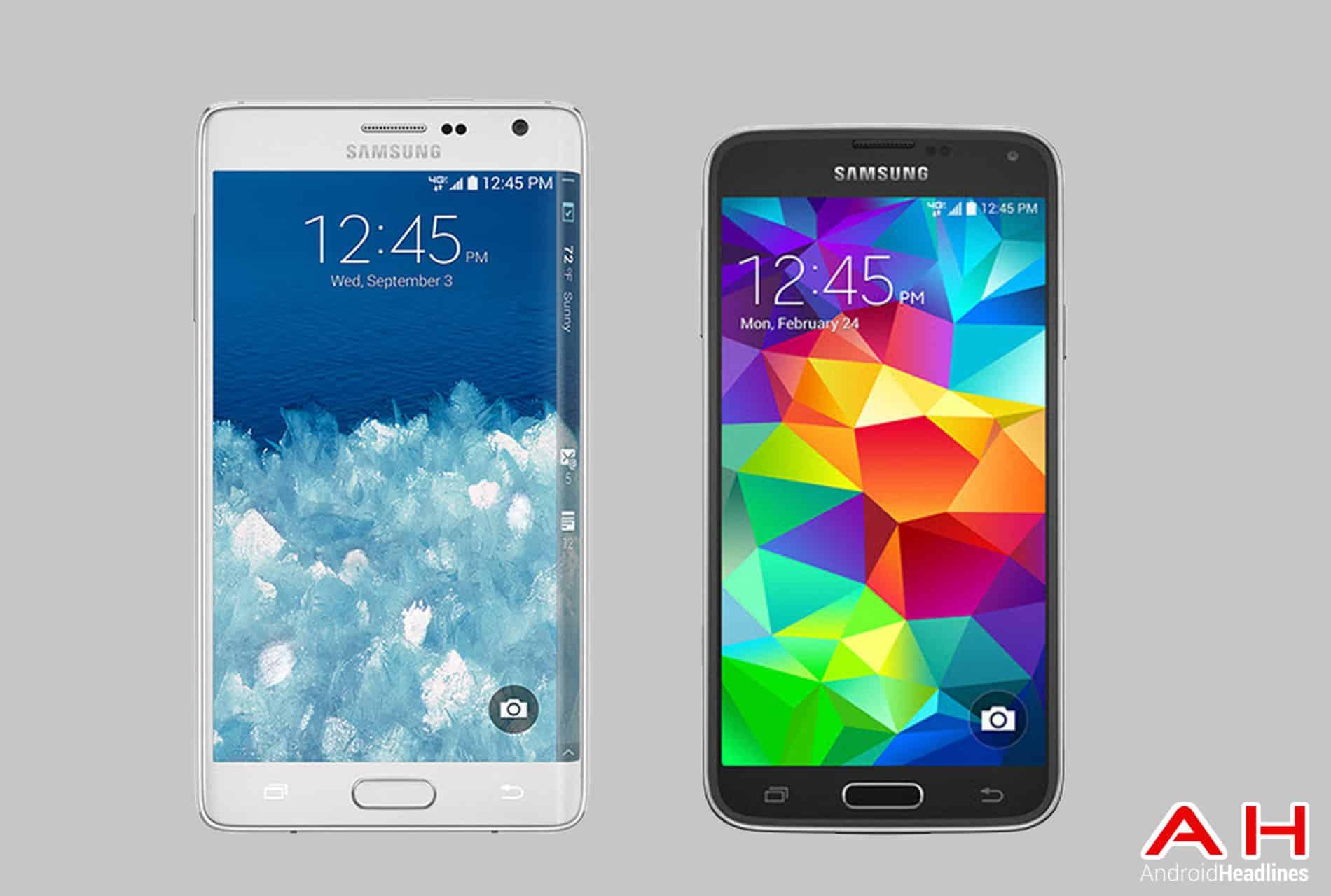 Galaxy Note Edge vs  Galaxy S5 cam AH