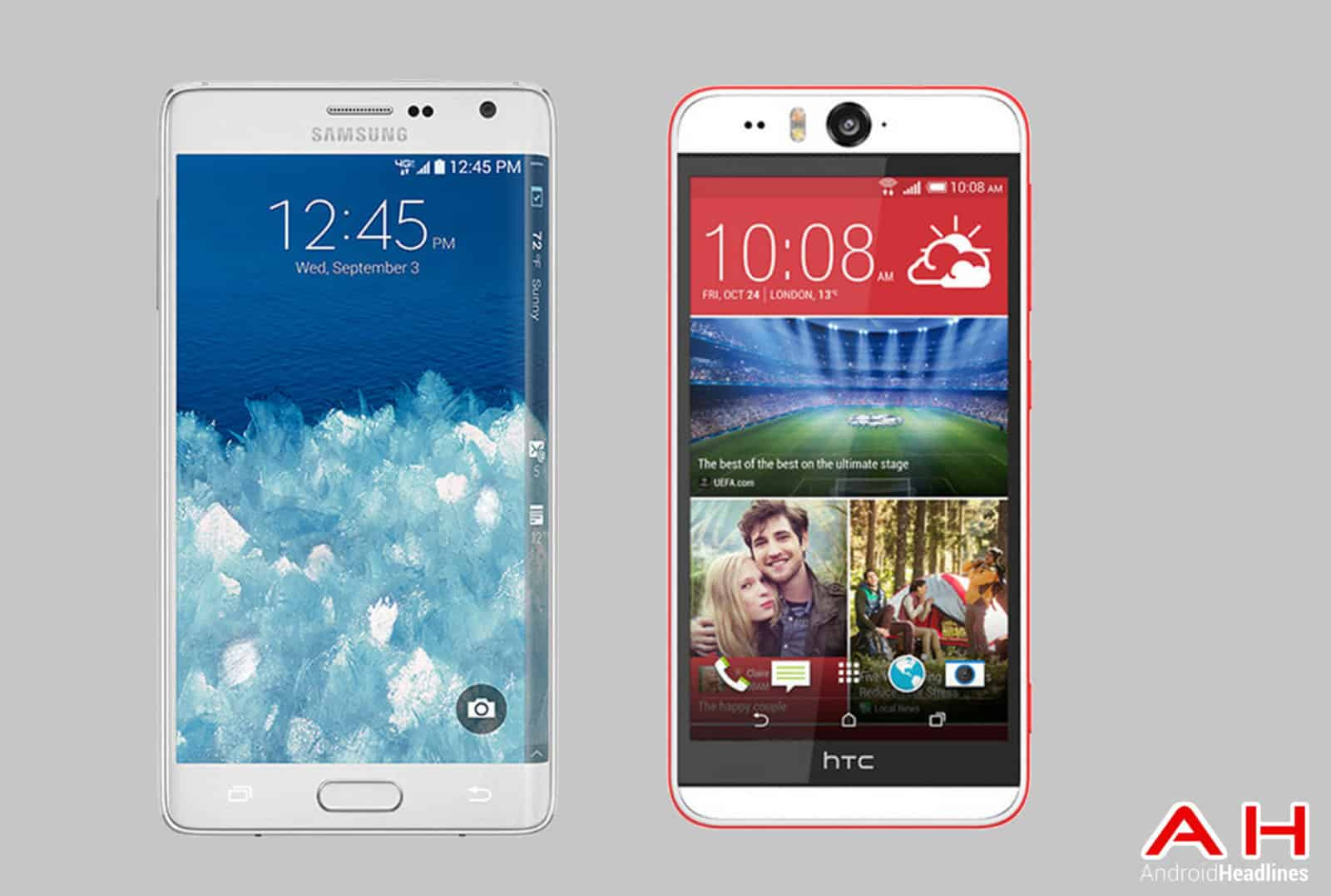 Galaxy Note Edge vs HTC Desire Eye cam AH