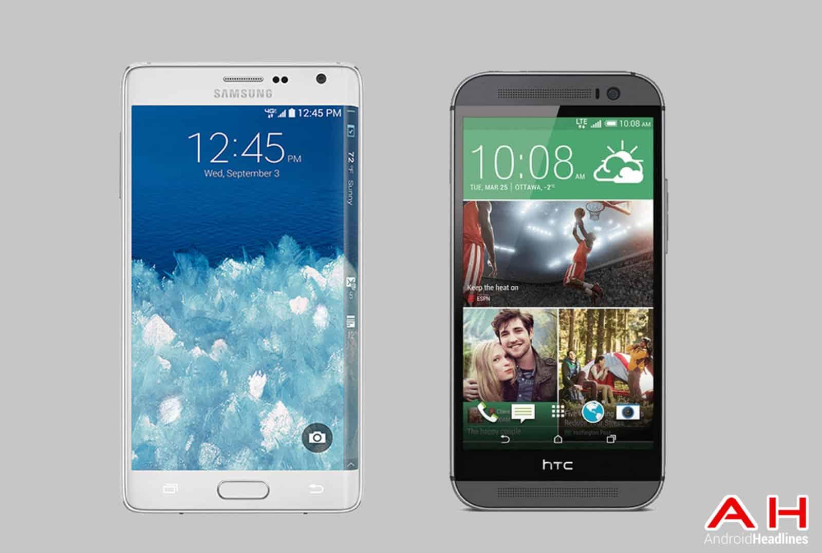 Galaxy Note Edge vs HTC One M8 cam AH