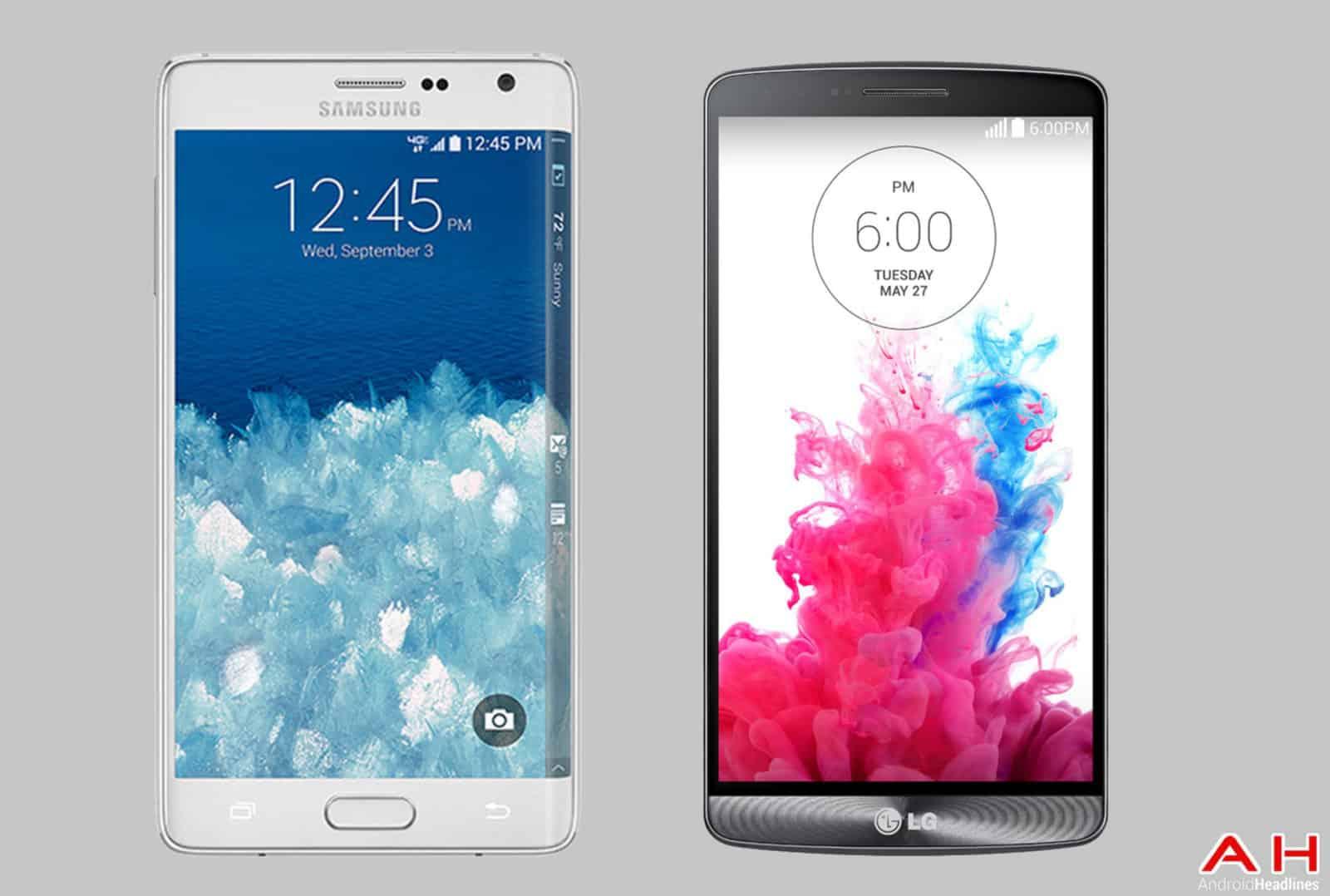 Galaxy Note Edge vs LG G3 cam AH