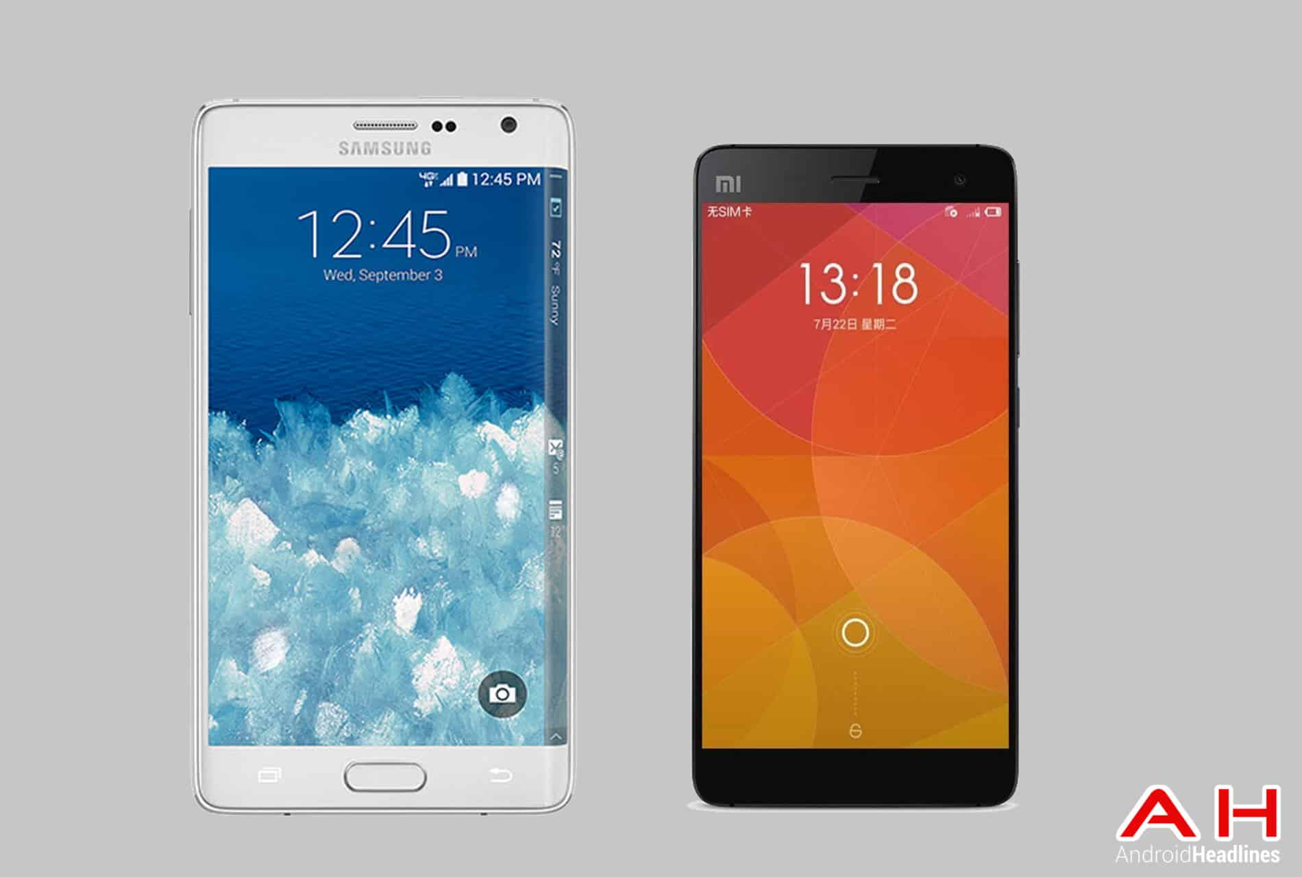 Galaxy Note Edge vs Xiaomi Mi4 cam AH