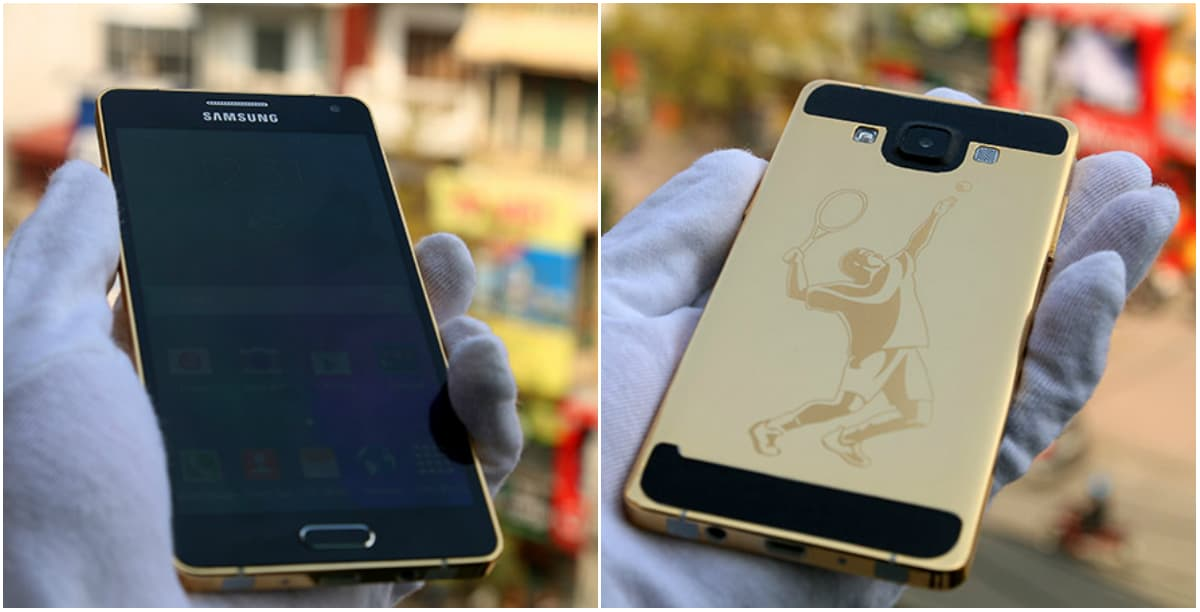 Gold-plated Galaxy A5 (unofficial)
