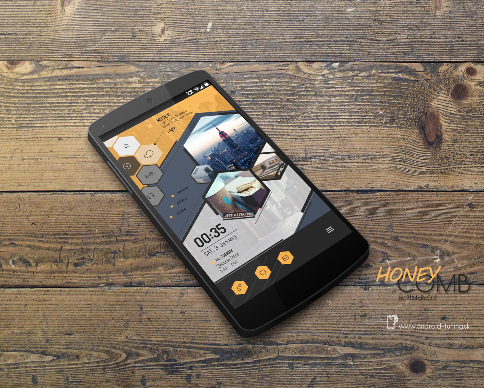 Top Android Homescreen January Edition Honeycomb
