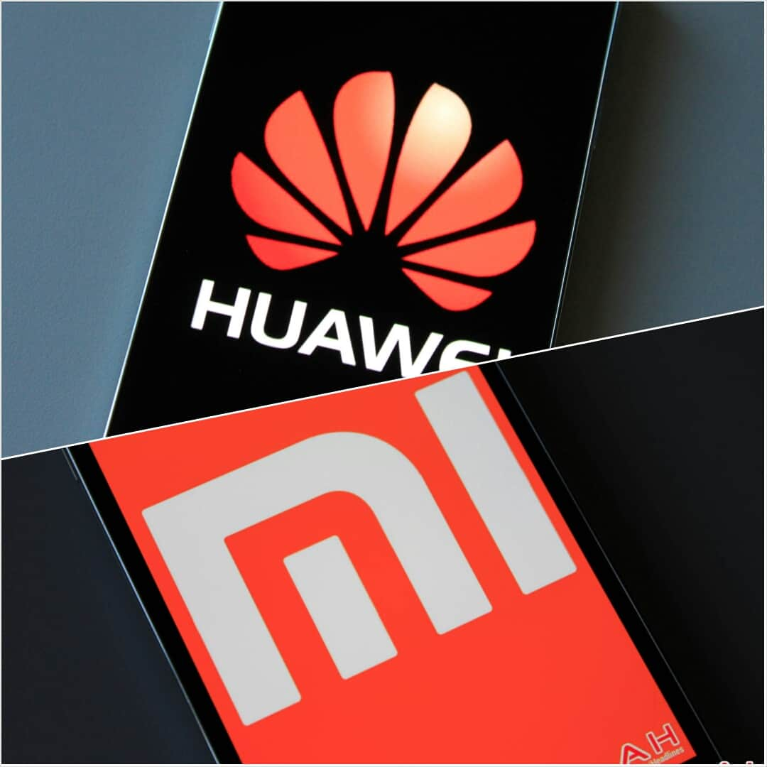 Huawei and Xiaomi logo