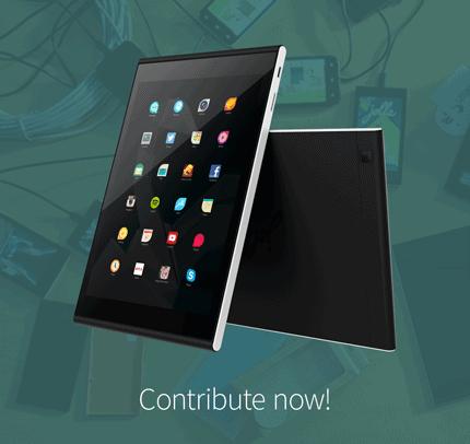 Jolla Tablet 2nd gen Indiegogo 1