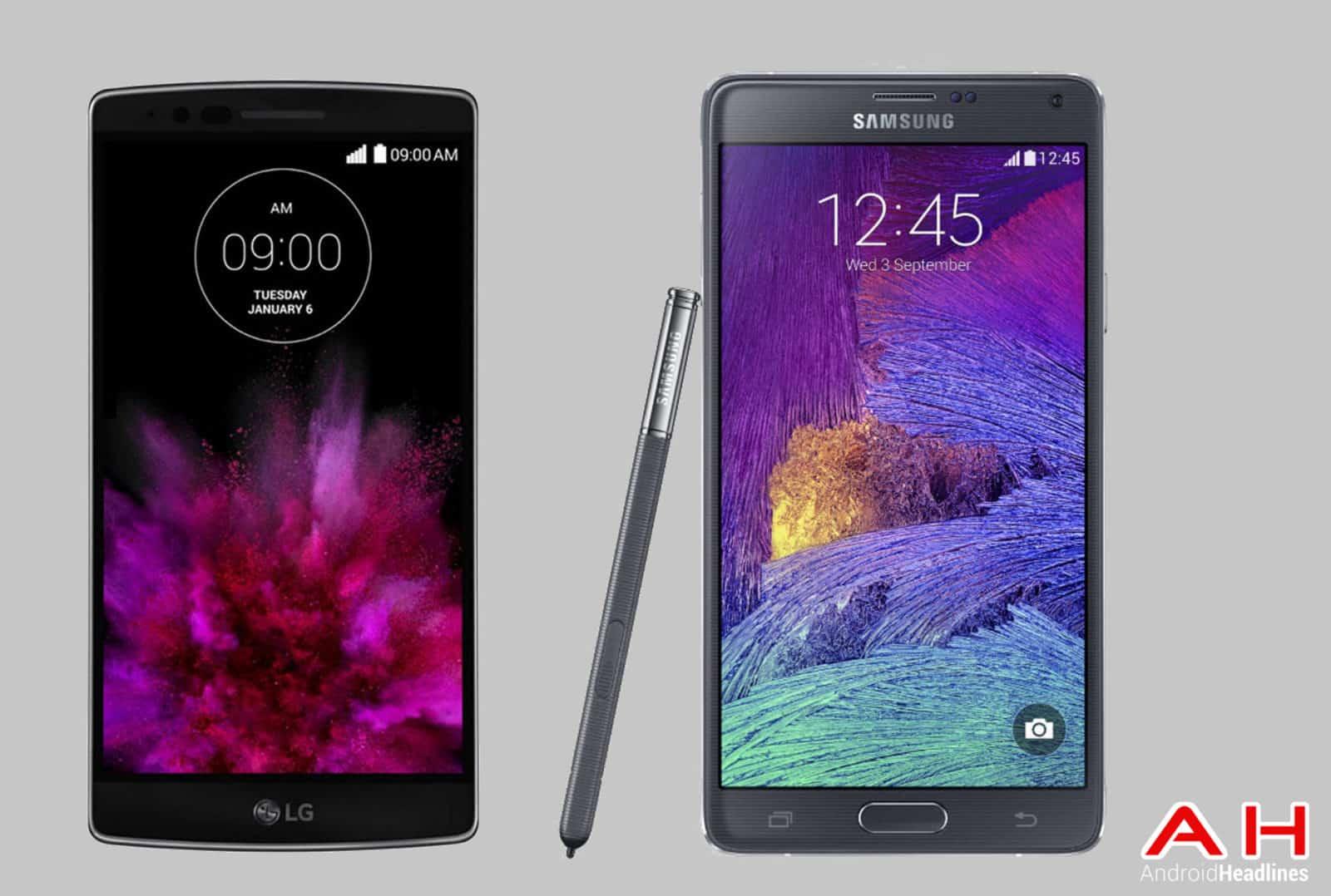 LG G Flex 2 vs Galaxy Note 4 cam AH