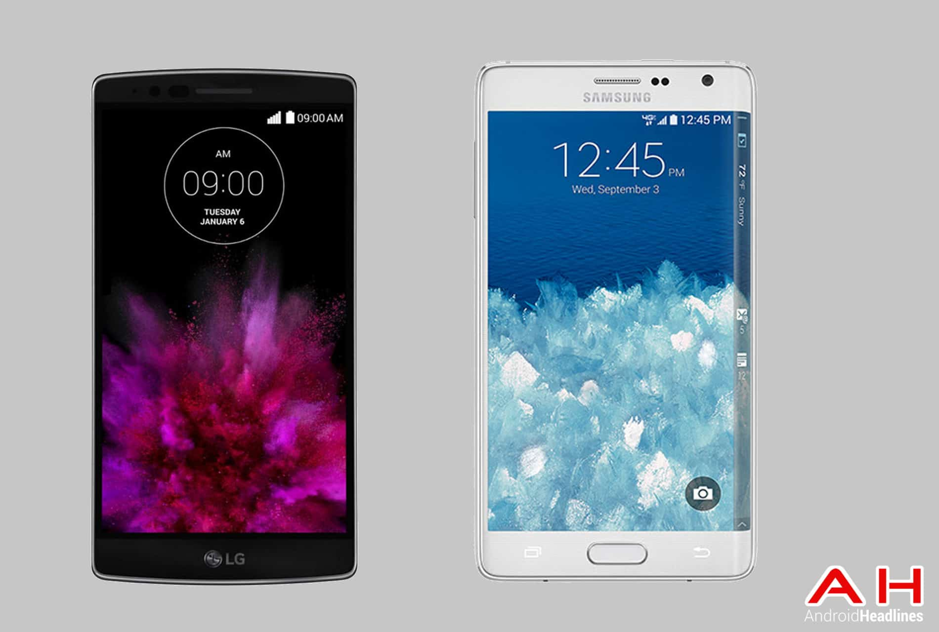 samsung phones 2015. phone comparisons: lg g flex 2 vs samsung galaxy note edge | androidheadlines.com phones 2015