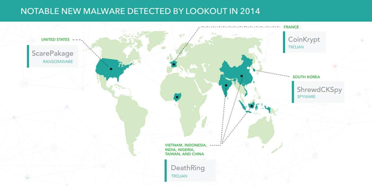 Lookout Worldwide 2014 Threats 1