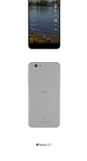 Nokia C1 renders leak