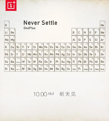 OnePlus One periodic table teaser