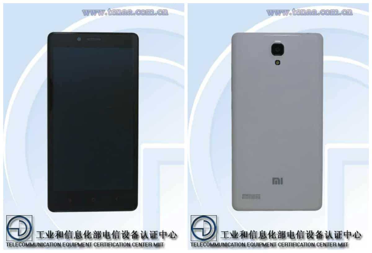 Regular Redmi Note with 4G connectivity (TENAA)