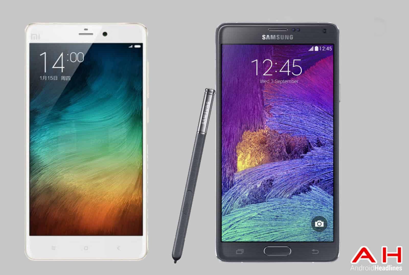 Xiaomi Mi Note Pro vs Galaxy Note 4 cam AH