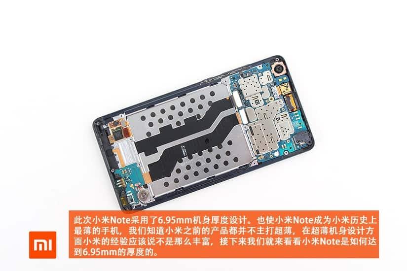 Xiaomi Mi Note teardown 8