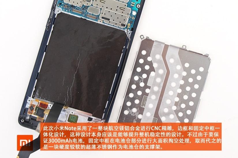Xiaomi Mi Note teardown 9