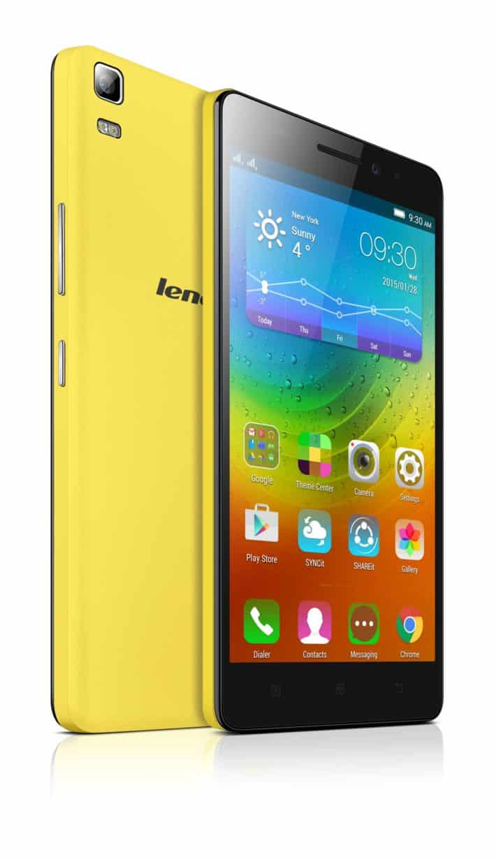 Lenovo Announces the A7000 Smartphone, Running on Android 5.0 Lollipop