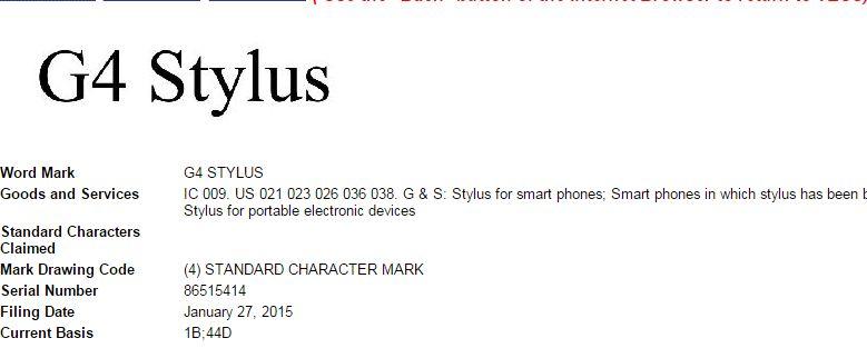 G4-Stylus USPTO