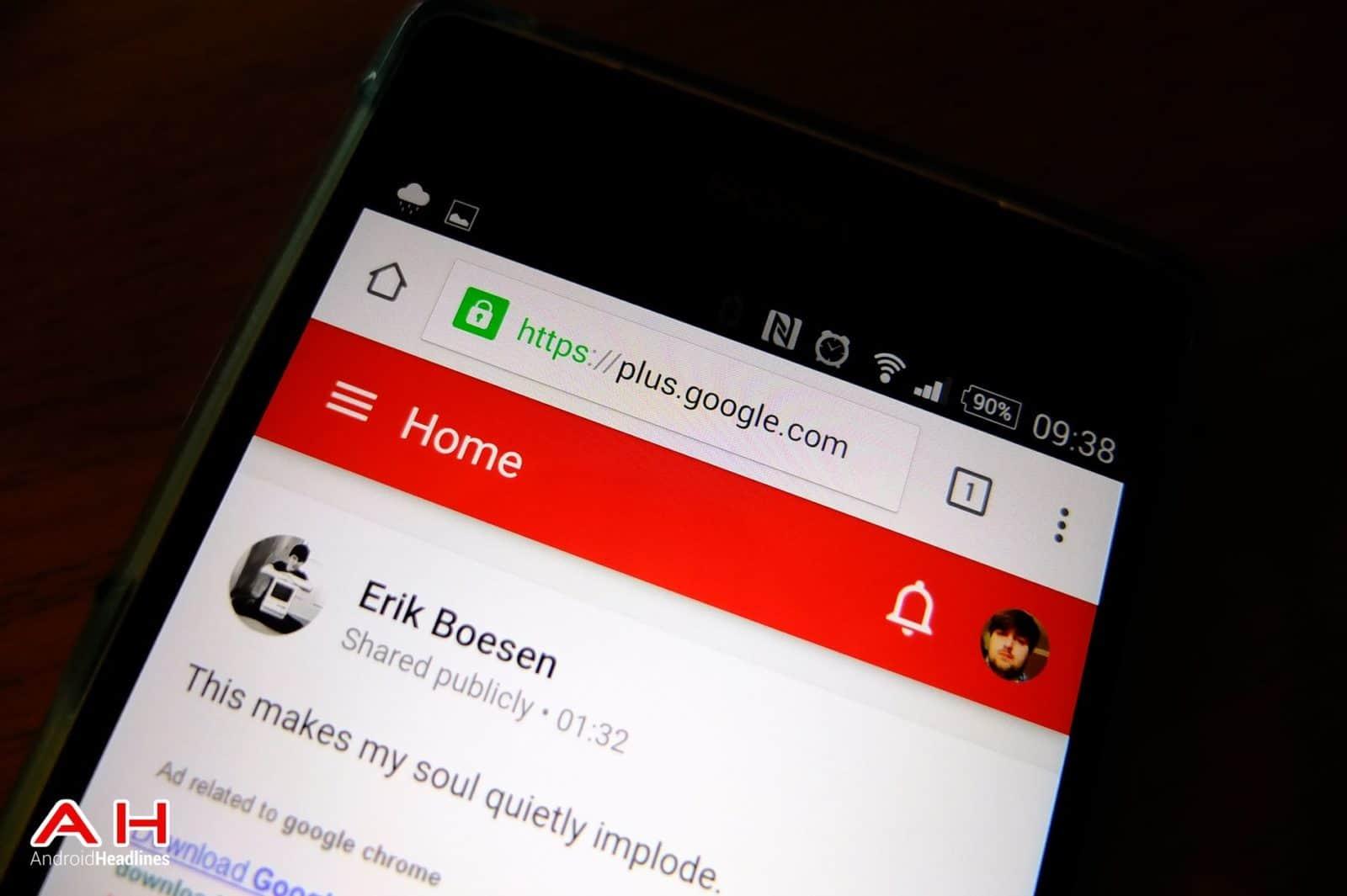 Google Plus Mobile Site AH 1