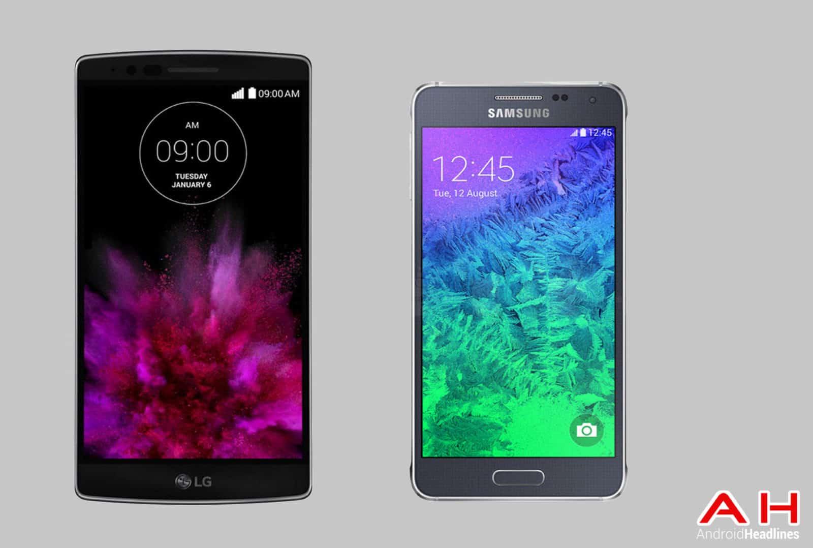 LG G Flex 2 vs Galaxy Alpha cam AH