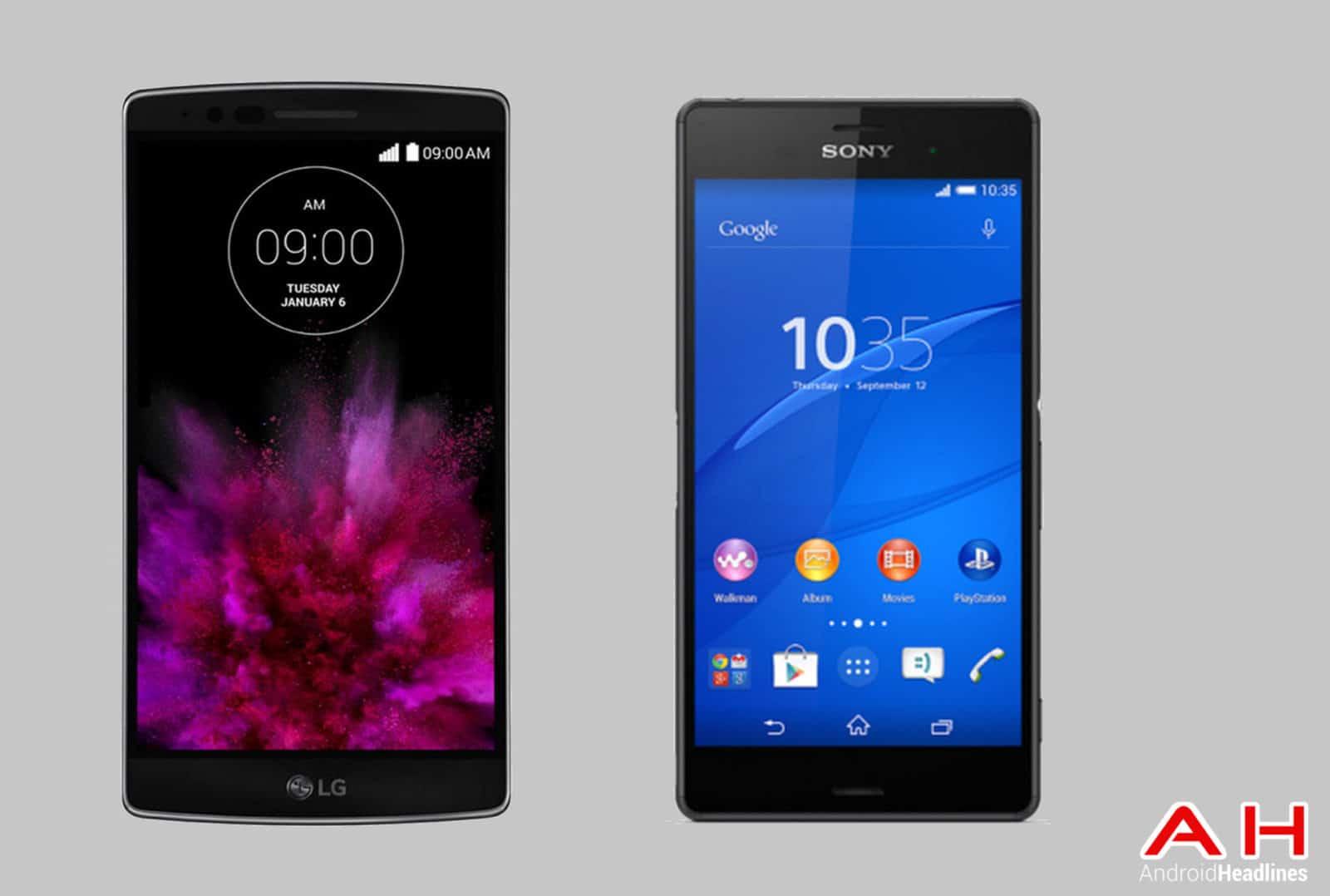 LG G Flex 2 vs Sony Xperia Z3 cam AH