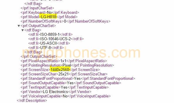 LG G4 H818 Leak