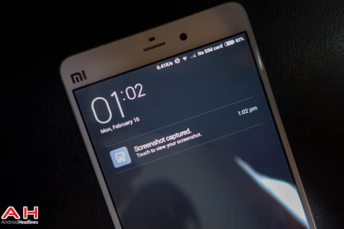 Android How to: take a screenshot on the Xiaomi Mi Note