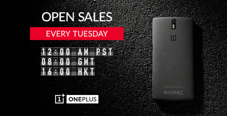 OnePlus One available every Tuesday