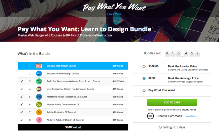 Buy the Learn to Design Bundle and Donate to Charity!