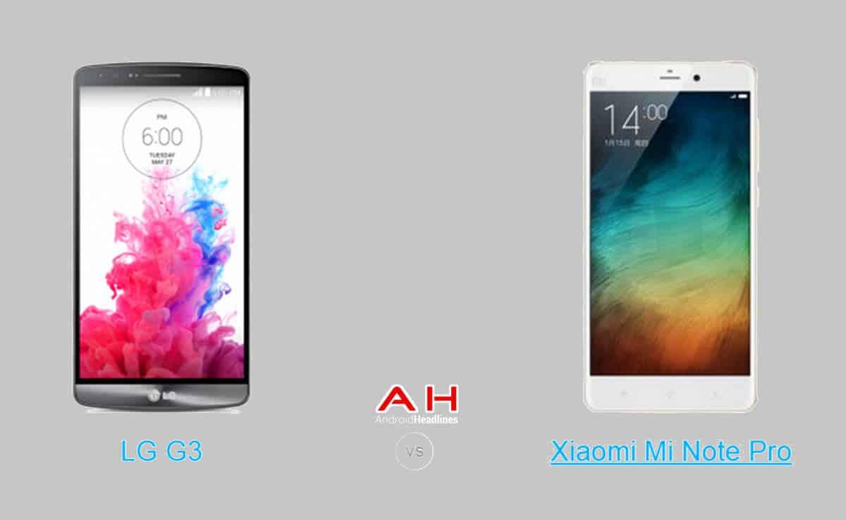 Xiaomi Mi Note Pro vs LG G3 cam AH
