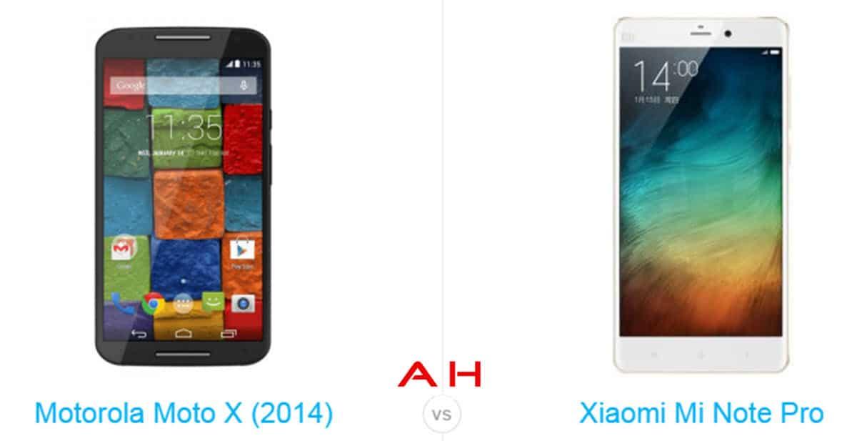 Xiaomi Mi Note Pro vs Moto X cam AH