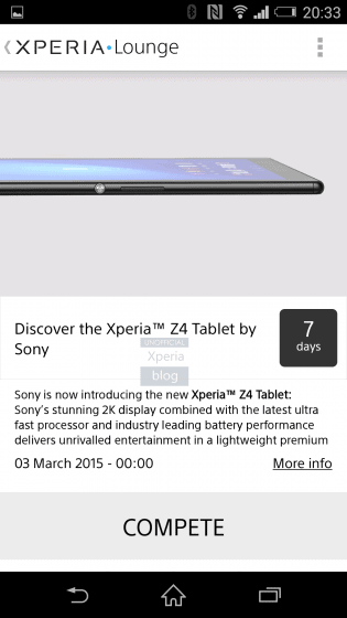 Xperia Z4 Tablet 2 315x5601