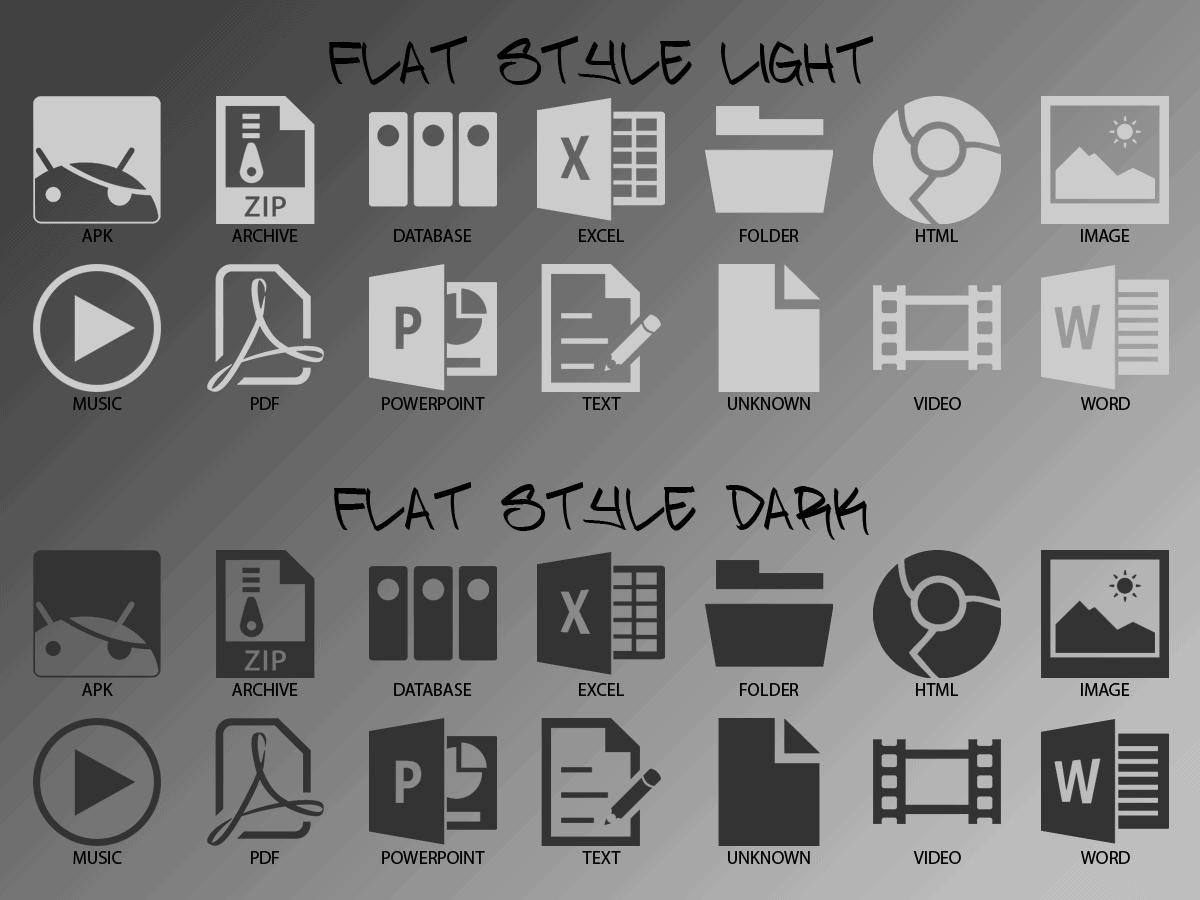flat style