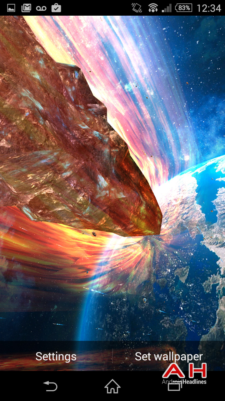 armageddon live wallpaper puts planetary destruction on your