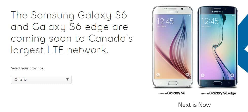Bell Pre-Order for Galaxy S6