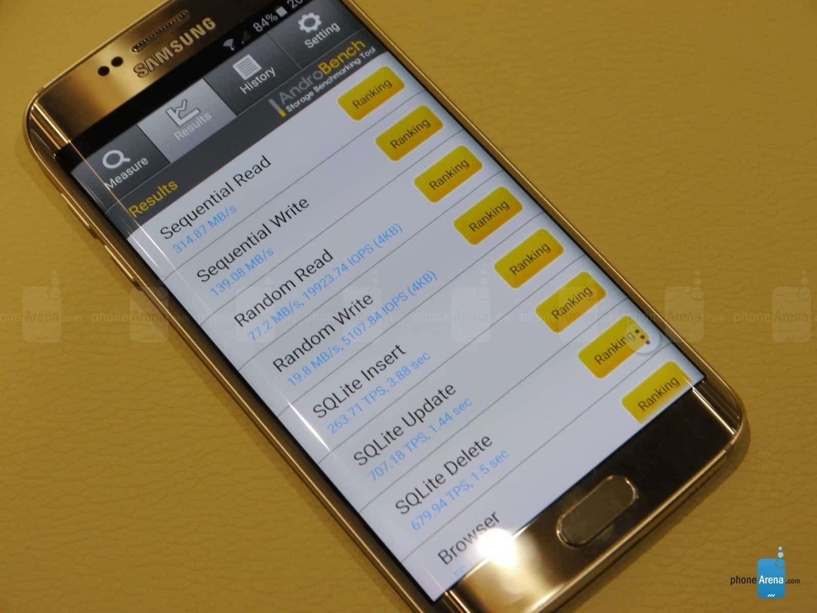 First Galaxy S6 edge benchmarks 1