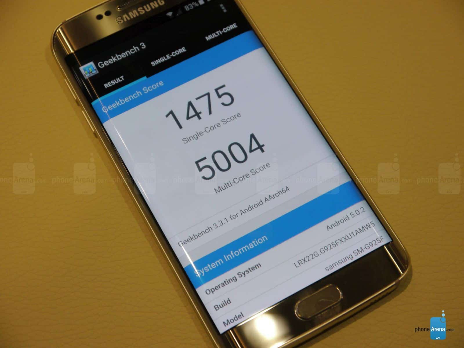 First Galaxy S6 edge benchmarks 3