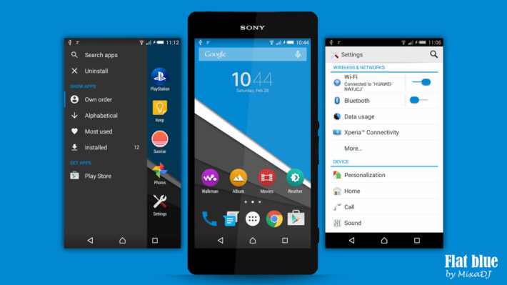 Flat Themes for Xperia Devices Make the Wait for Lollipop More Bearable