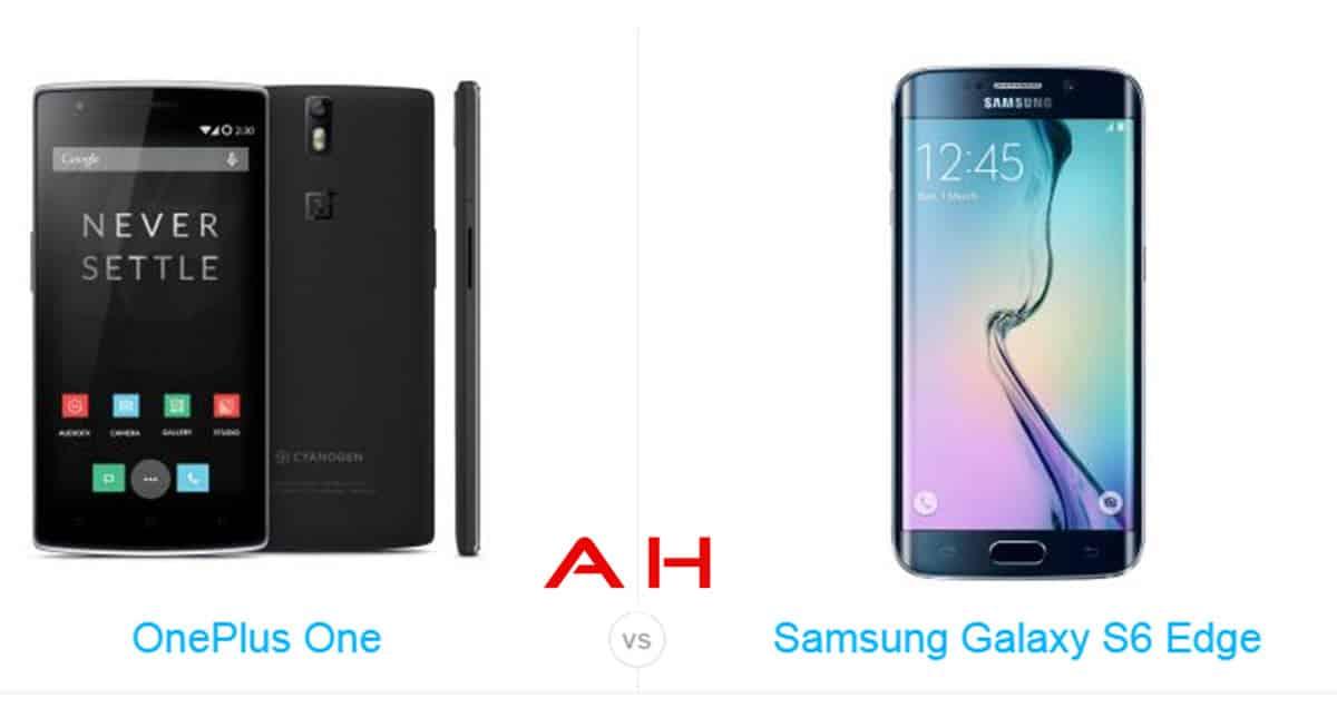 Galaxy S6 Edge vs OnePlus One cam AH