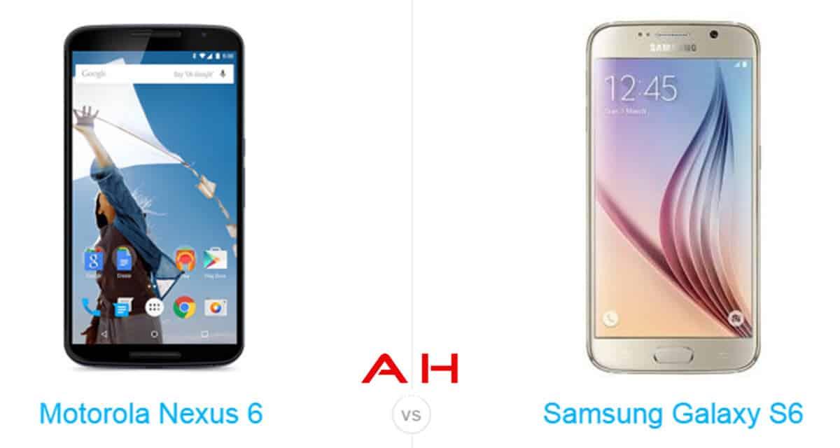 Galaxy S6 vs Nexus 6 cam AH