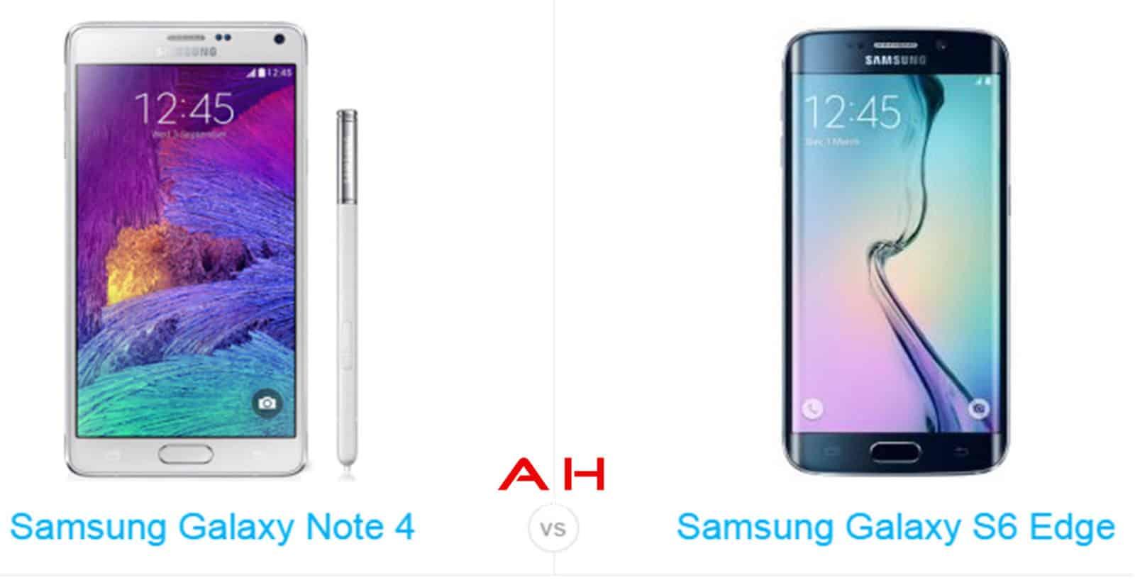 Galaxy s6 Edge vs Galaxy Note 4 cam AH