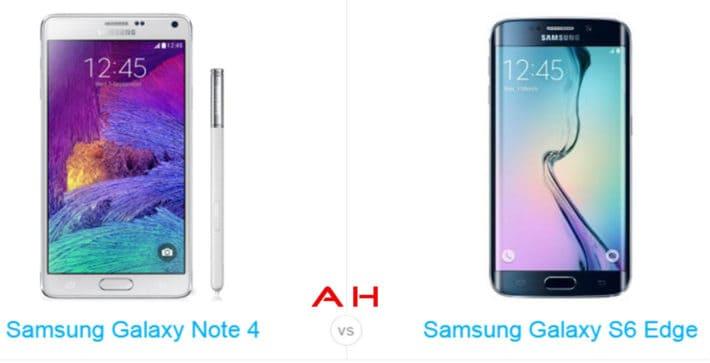 Phone Comparisons: Samsung Galaxy Note 4 vs Samsung Galaxy S6 Edge