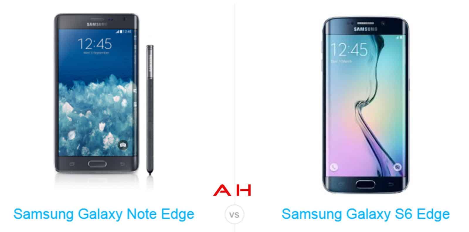 Galaxy s6 Edge vs Galaxy Note Edge cam AH