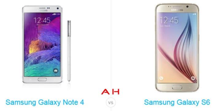 Phone Comparisons: Samsung Galaxy Note 4 vs Samsung Galaxy S6