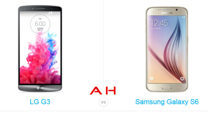 Phone Comparisons: LG G3 vs Samsung Galaxy S6