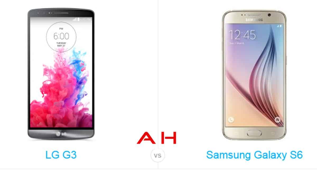 Galaxy s6 vs LG G3 cam AH