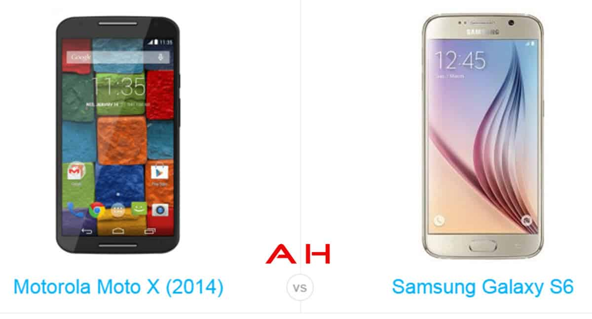 Galaxy s6 vs Moto X cam AH