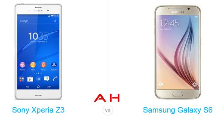 Phone Comparisons: Sony Xperia Z3 vs Samsung Galaxy S6