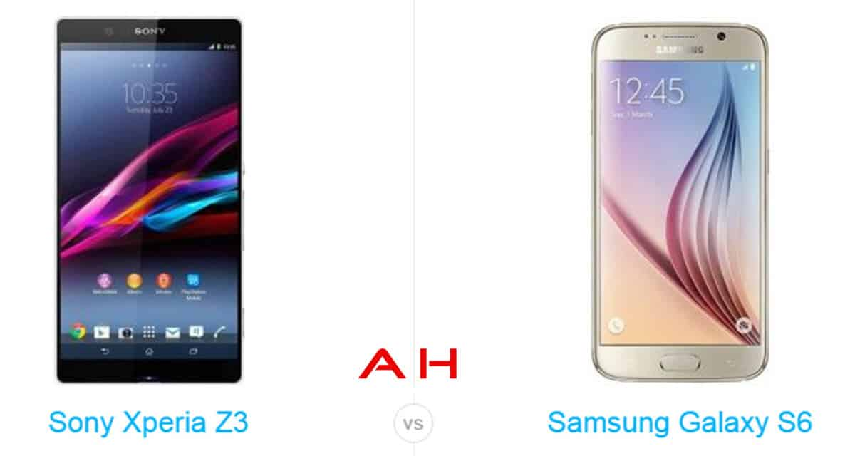 Galaxy s6 vs Xperia Z3 cam AH
